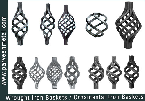 Wrought iron components and ornamental iron hardware for gates parts and fences manufacturers exporters in  india, usa, uk, America, UAE Dubai, Australia, Italy
